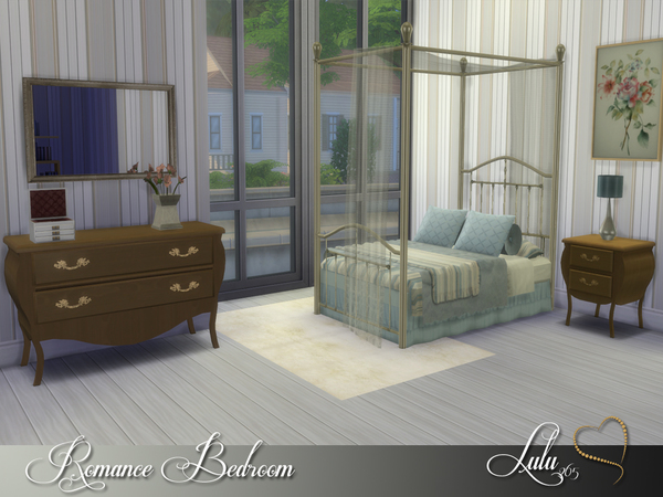 Sims 4 Romance Bedroom by Lulu265 at TSR