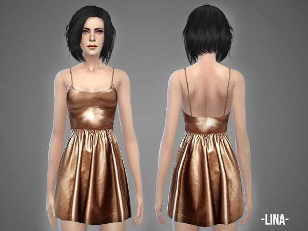 Sims 4 Lina dress by April at TSR