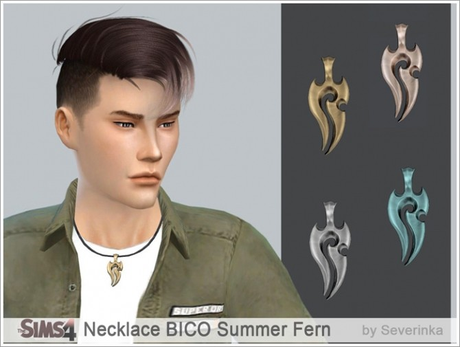 Necklace BICO Summer fern at Sims by Severinka image 2135 670x505 Sims 4 Updates