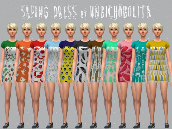Spring dress at Un bichobolita image 2152 670x503 Sims 4 Updates