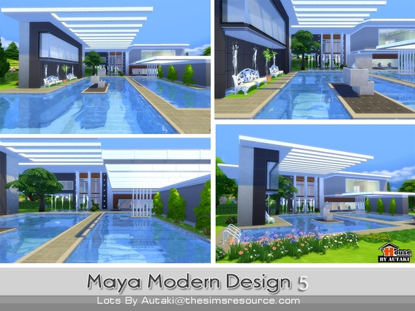 maya modern design 5 house by autaki at tsr image 2160 sims 4 updates - Sims 4 Home Design