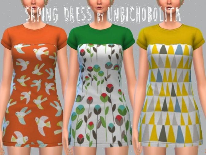 Spring dress at Un bichobolita image 2162 670x503 Sims 4 Updates