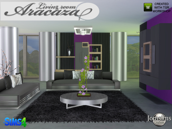 Aracaza livingroom by jomsims at TSR image 2170 Sims 4 Updates