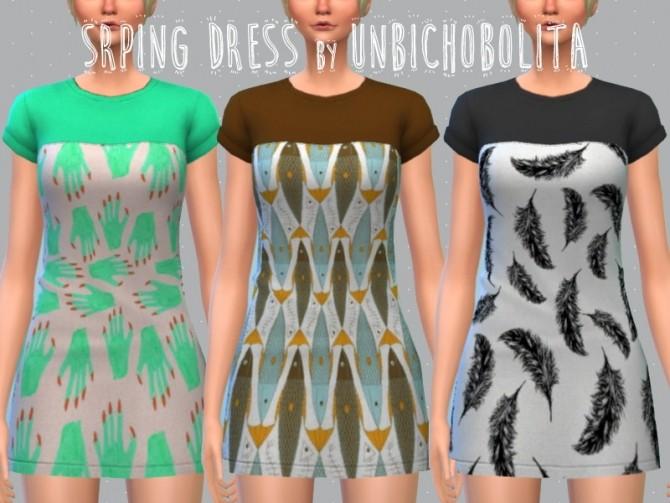 Spring dress at Un bichobolita image 2172 670x503 Sims 4 Updates