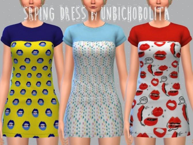 Spring dress at Un bichobolita image 2182 670x503 Sims 4 Updates