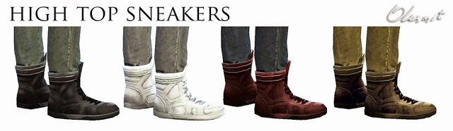 Sims 4 Fixed male sneakers at OleSims