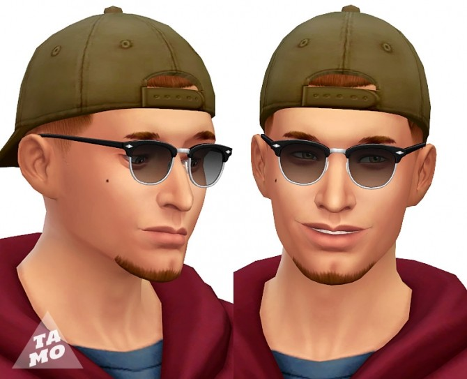 Sims 4 Simlish Clubmaster Sunglasses (dark shades) at Tamo