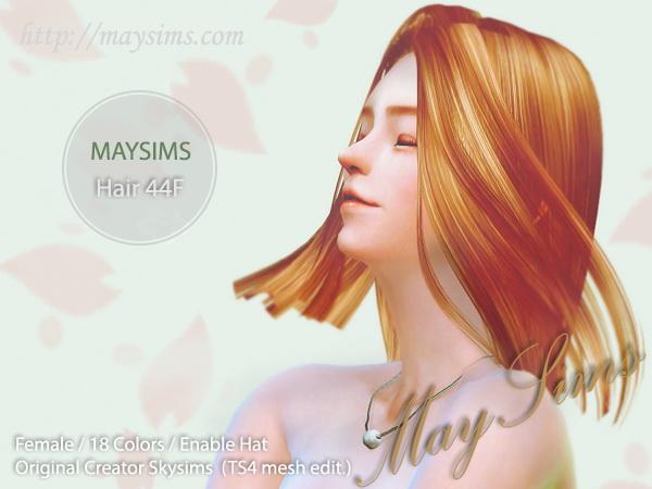 Sims 4 Hair 44F at May Sims
