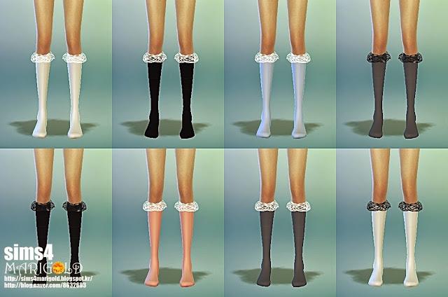 Lace Socks 4 Version At Marigold 187 Sims 4 Updates