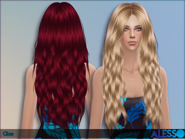Glow Hair by Alesso at TSR image 2297 Sims 4 Updates