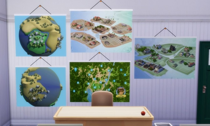 School CC: Maps (stickers) at Budgie2budgie image 2331 670x405 Sims 4 Updates