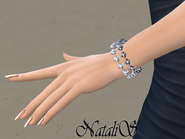 Sims 4 Gentle crystals bracelet by NataliS at TSR