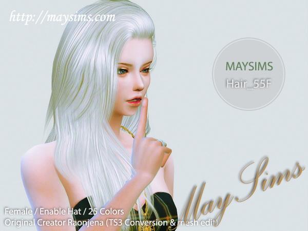 Sims 4 Hair 55F (Raonjena) at May Sims