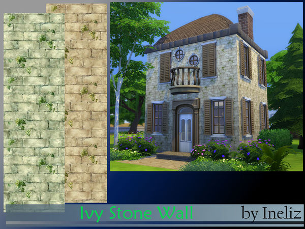 Ivy Stone Wall by Ineliz at TSR image 2358 Sims 4 Updates
