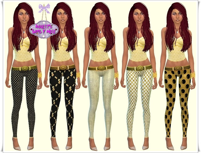 Gold leggings at Annett's Sims 4 Welt image 2404 Sims 4 Updates