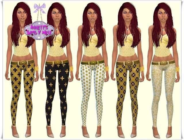 Gold leggings at Annett's Sims 4 Welt image 24112 Sims 4 Updates