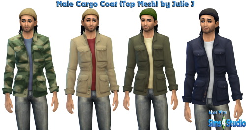 New Male Cargo Coat at Julietoon – Julie J image 2416 Sims 4 Updates
