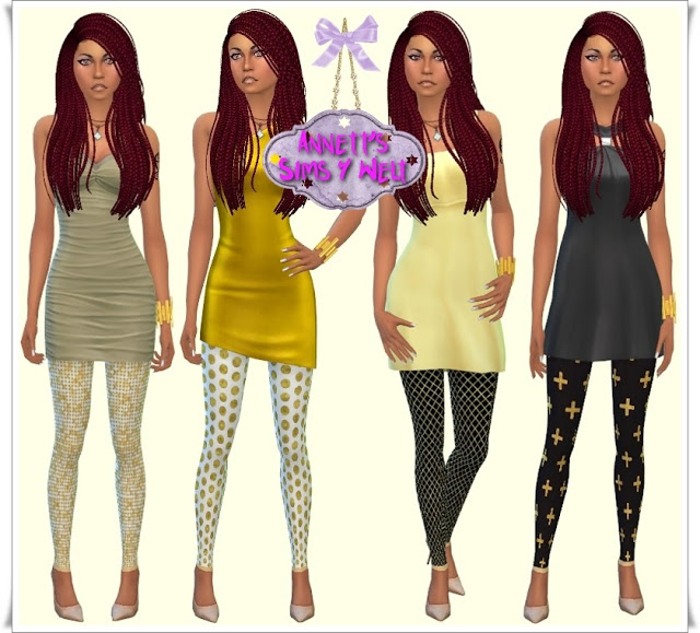 Gold leggings at Annett's Sims 4 Welt image 24210 Sims 4 Updates