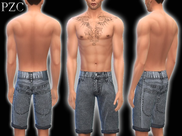 Jeans Shorts No.4 by Pinkzombiecupcakes at TSR image 2429 Sims 4 Updates