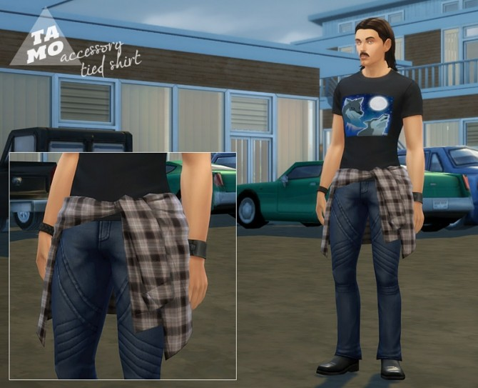 Acc. Tied Shirt for Male + Female at Tamo image 2433 670x543 Sims 4 Updates