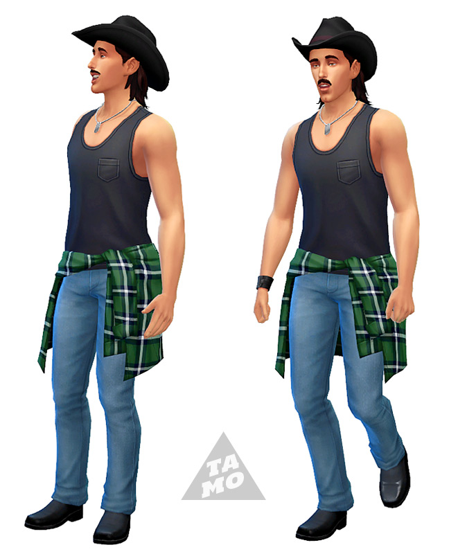 Acc. Tied Shirt for Male + Female at Tamo image 2453 Sims 4 Updates