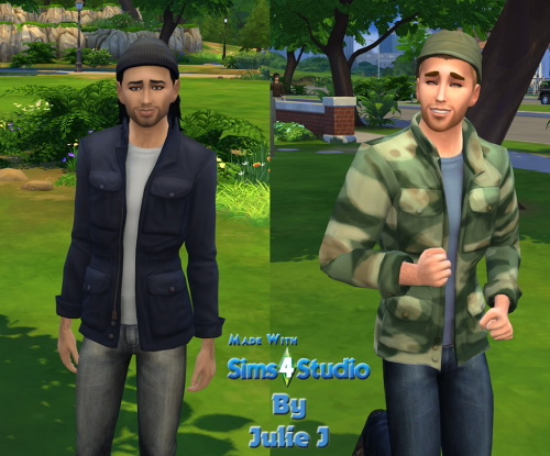 New Male Cargo Coat at Julietoon – Julie J image 2516 Sims 4 Updates
