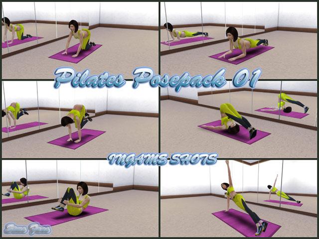 Sims 4 Pilates Posepack 01 by Sim4fun at Sims Fans