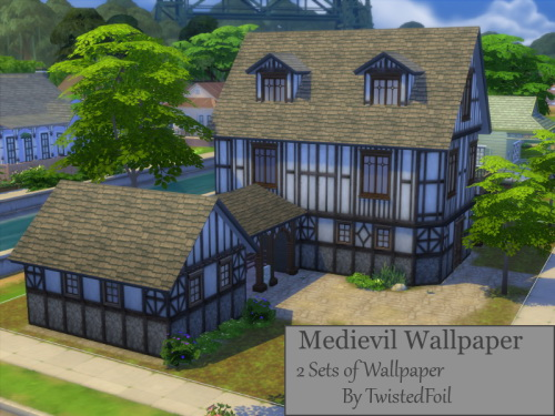 2 Medieval Wallpaper Sets at TwistedFoil image 2531 Sims 4 Updates