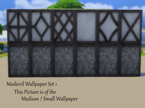 2 Medieval Wallpaper Sets at TwistedFoil image 2541 Sims 4 Updates