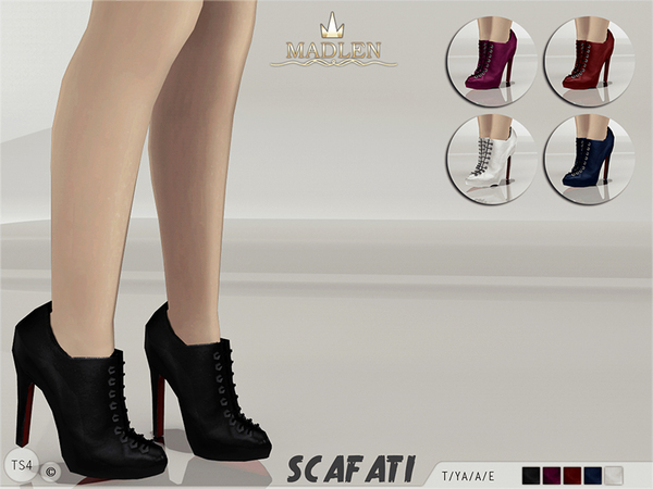 Sims 4 Madlen Scafati Boots by MJ95 at TSR