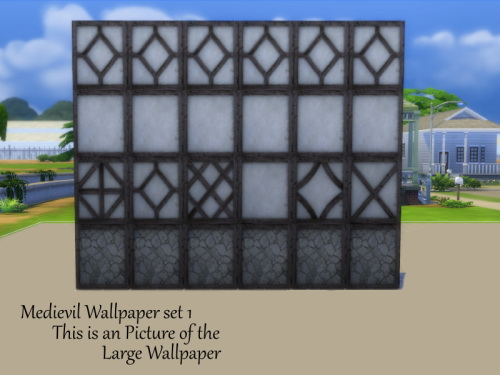 2 Medieval Wallpaper Sets at TwistedFoil image 2551 Sims 4 Updates