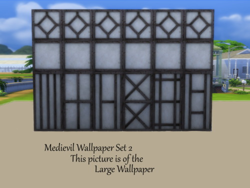 2 Medieval Wallpaper Sets at TwistedFoil image 257 Sims 4 Updates