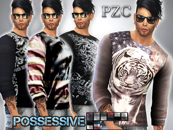 Possessive Shirt Set by Pinkzombiecupcakes at TSR image 2613 Sims 4 Updates