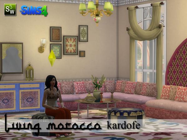 Sims 4 Living Morocco by kardofe at TSR