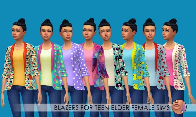 Sims 4 Blazers + shorts for kids at Erica Loves Sims