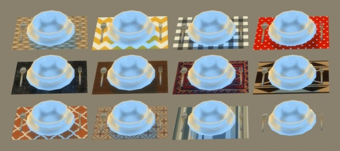 A table set with plates and cutlery at Jool's Simming image 2631 670x299 Sims 4 Updates