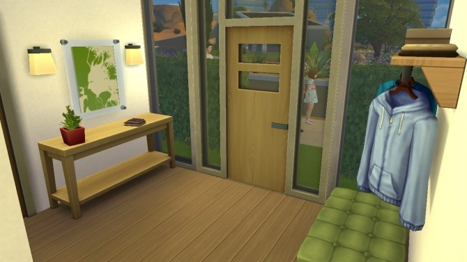 Sims 4 Modern starter house by Bunny m at Mod The Sims