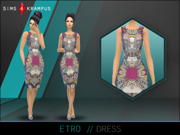 Etro Dress by SIms4Krampus at TSR image 3016 Sims 4 Updates