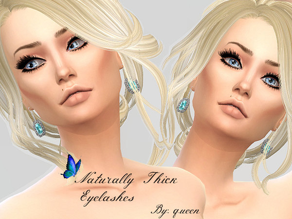 Sims 4 Naturally Thick Eyelashes by Queen BeeXxx21 at TSR