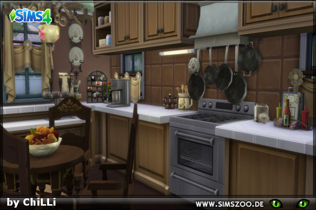 Chocolate Kitchen by ChiLLi at Blacky's Sims Zoo image 3118 Sims 4 Updates