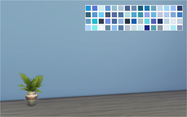 60 shades of blue walls at veranka sims 4 updates for Plain blue wallpaper for walls