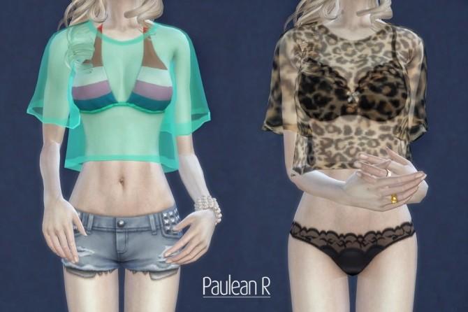 Sims 4 Transparent shirt acc. at Paulean R