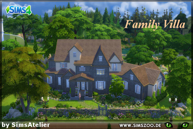 Family Villa by SimsAtelier at Blacky's Sims Zoo image 3221 Sims 4 Updates