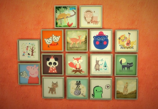 Sims 4 Paintings for kids the square edition at Budgie2budgie