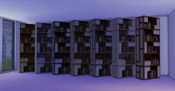 Sims 4 Poetic Bookshelf by AdonisPluto at TSR