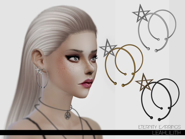 Sims 4 Eternity Earrings by Leah Lillith at TSR