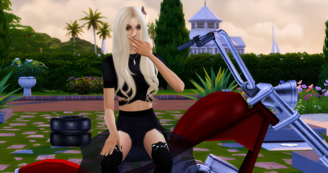 Sims 4 Motorcycle Poses by Dreacia at My Fabulous Sims