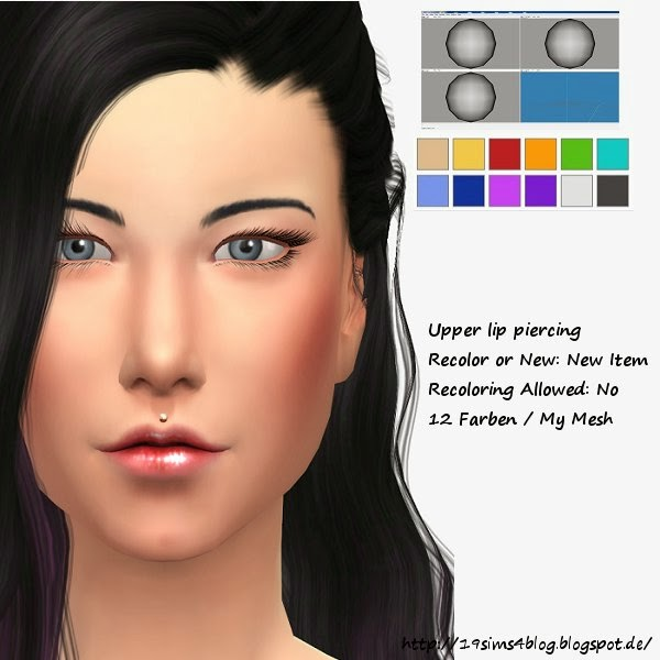 Upper lip piercing at 19 Sims 4 Blog image 3511 Sims 4 Updates