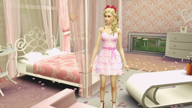 Romantic Frilly Dress Glittery by Czarina27 at Mod The Sims image 371 670x378 Sims 4 Updates
