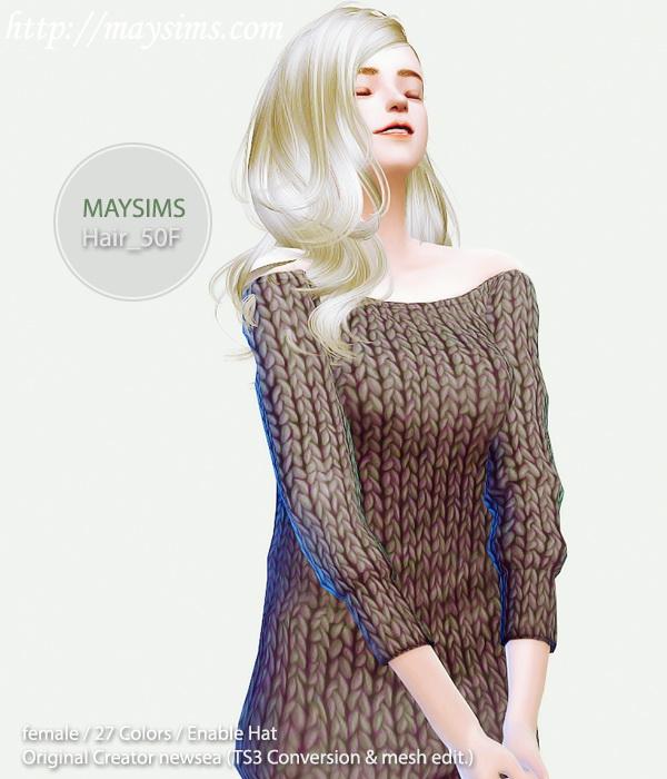 Sims 4 Hair 50F (Newsea) at May Sims